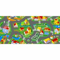 Traffic play mat city 140 x 200 cm