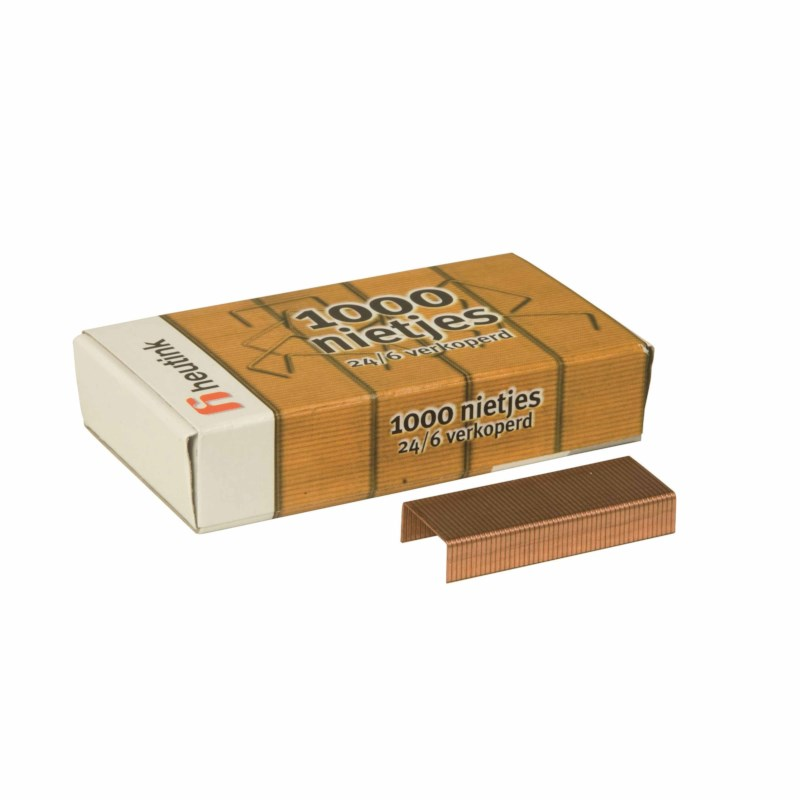 Staples copper-plated 24/6 (1000)