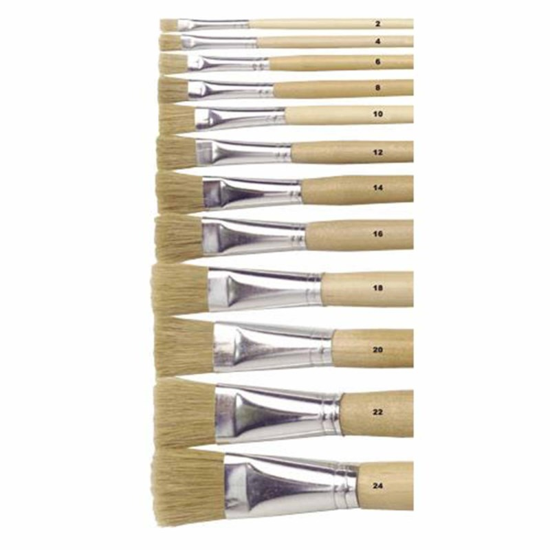 Paint brushes - Lyons - Flat ferrule, long handled - Nr. 8