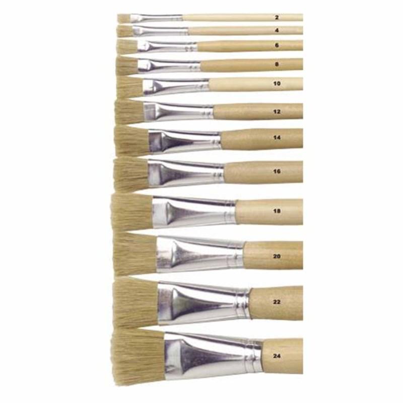 Paint brushes - Lyons - Flat ferrule, long handled - Nr. 10