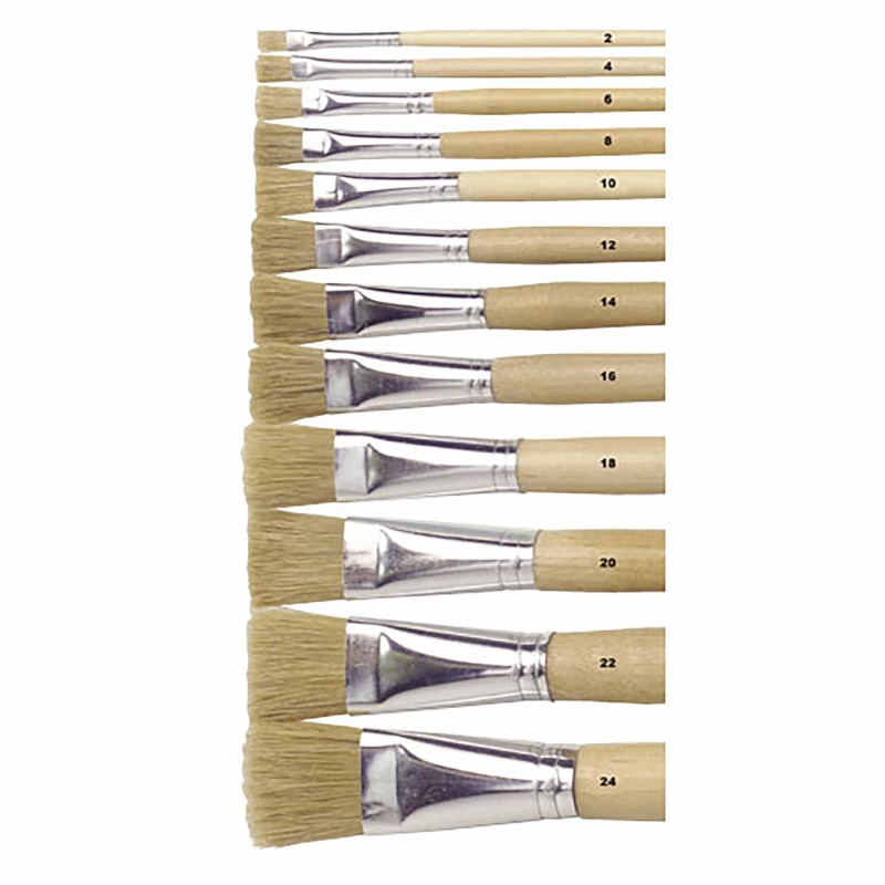 Paint brushes - Lyons - Flat ferrule, long handled - Nr. 24