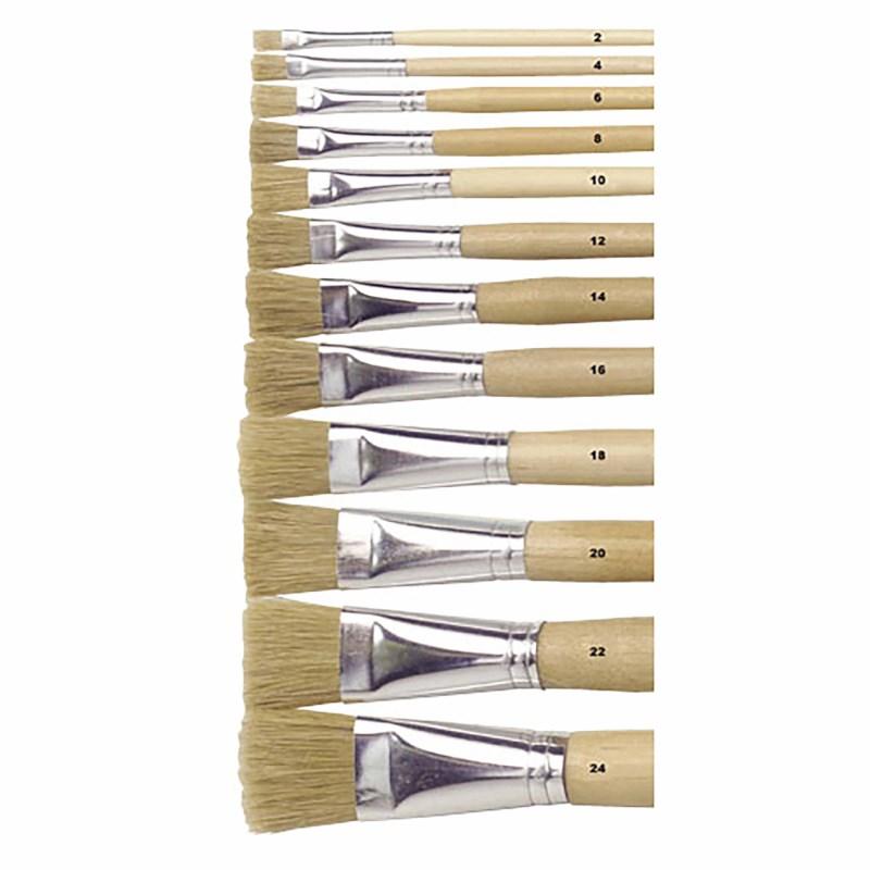 Paint brushes - Lyons - Flat ferrule, long handled - Nr. 24