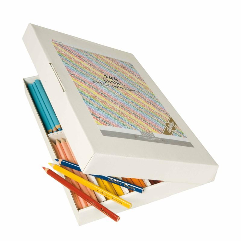 Jumbo Crayons triangular Goldline - Heutink - Carton of 144 - Assorted colours