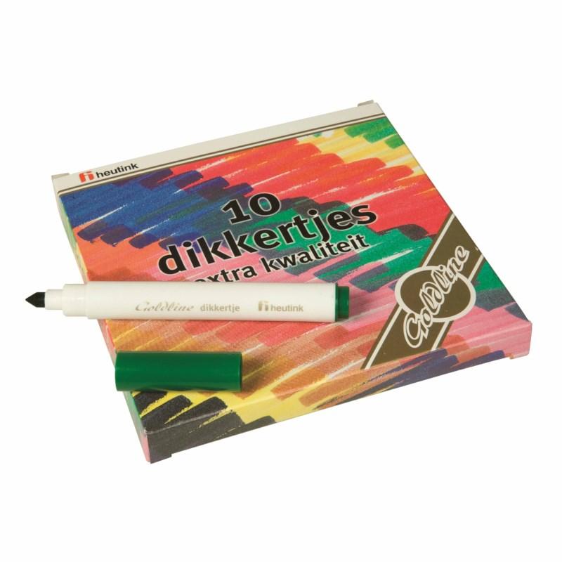 Felt tip pens - Thick Goldline - Heutink - Box of 10 colours