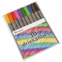 Felt tip pens - Triangular - Heutink - Pouch of 10 colours