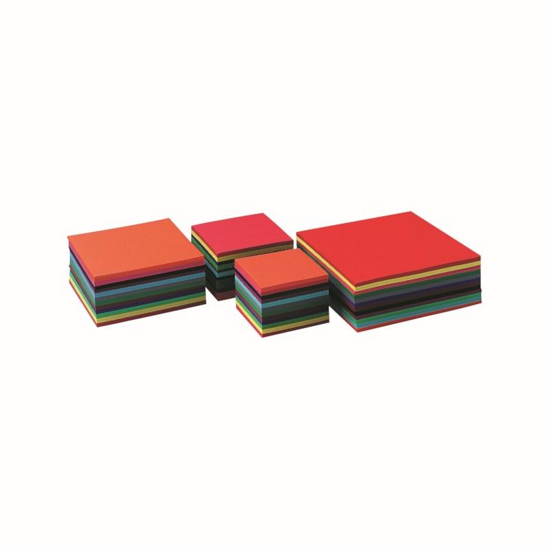 Craft paper 140 grams - Square - 12 colours - 16 x 16 cm