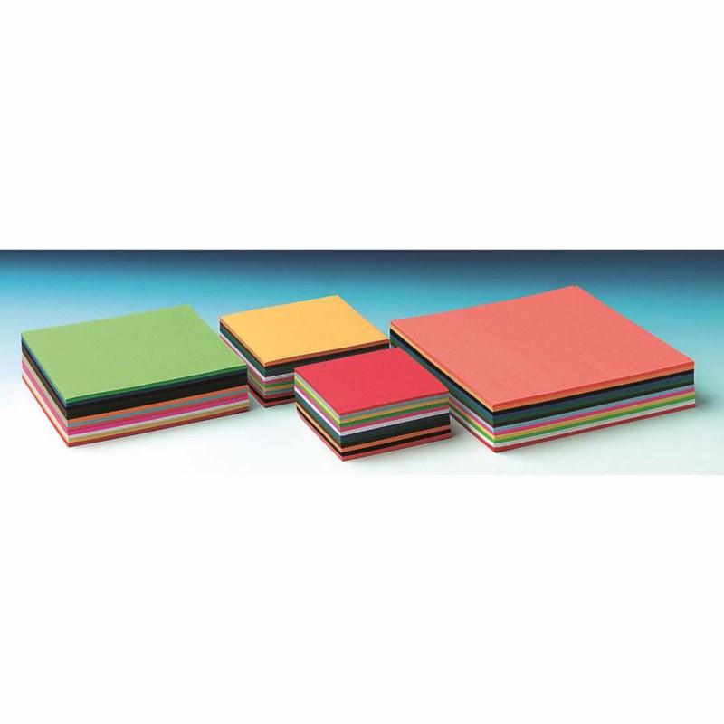 Craft paper 60 grams - Square - 12 colours - 10 x 10 cm