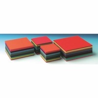 Craft paper 120 grams - Square - 12 colours - 10 x 10 cm