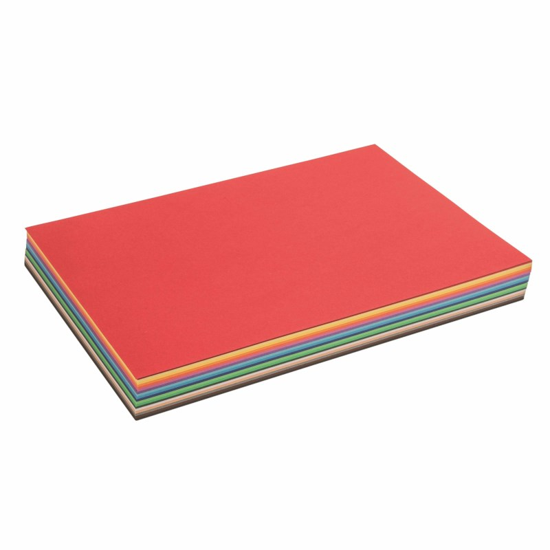Coloured craft paper - 120 grams, 180 sheets - A4, 17 colours + white - 21 x 29.7 cm