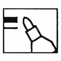 Marker - Heutink - Round tip - Black
