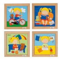 Puzzle set girls - set of 4