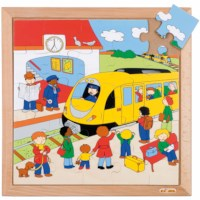 Transport puzzle - train station
