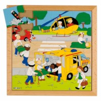 Street action puzzle - rescue