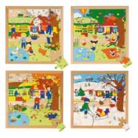 Season puzzles 2 - set of 4