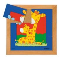 Animal puzzle mother + child - giraffe