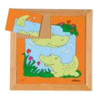 Animal puzzle mother + child - crocodile