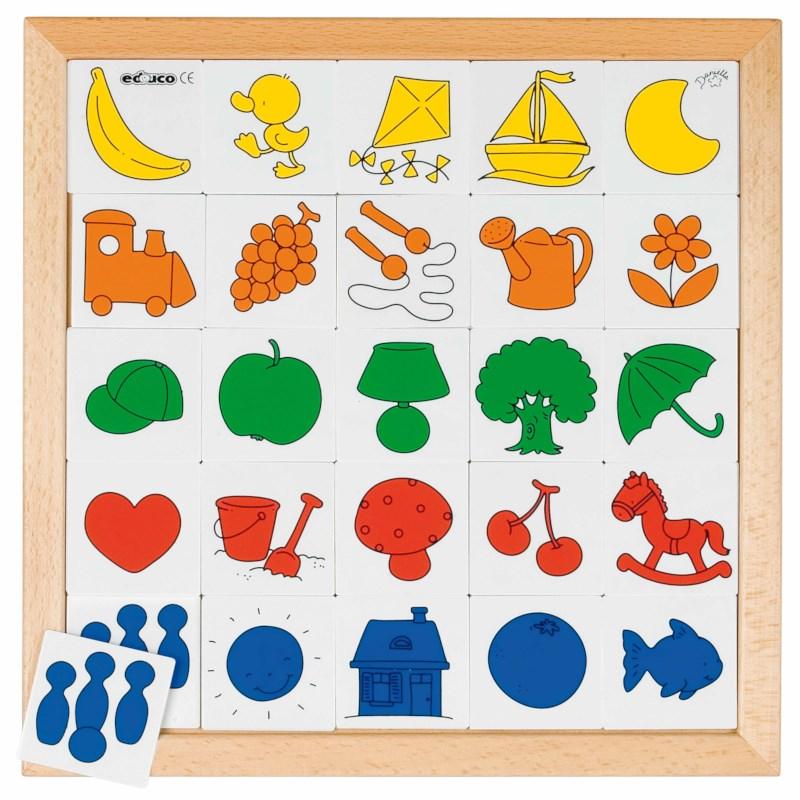 Comprehension lotto - colour