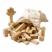 Wooden building blocks blank