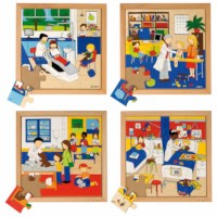 Health puzzles - set of 4