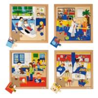 Health puzzles - set of 4