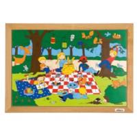 Children's activities puzzle - picnic