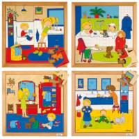 Hygiene puzzles - set of 4