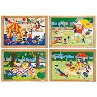 Children's activities puzzles - set of 4