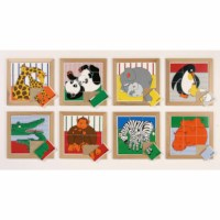 Animal puzzles mother + child - set of 8