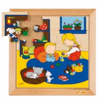 Baby puzzle - playing