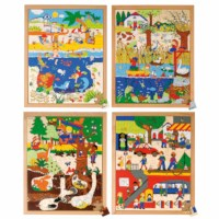 Above and beneath puzzles 120 - set of 4