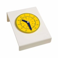 Clock hours and minutes yellow pupils