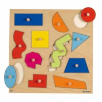 Knob puzzle - geometric shapes