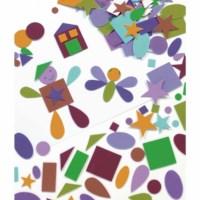 Rubber figures - Geometric shapes - 180 pcs.